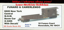 Funaro F&C 6620  NYC  NEW YORK CENTRAL  Crane Boom MOW  Maintenance of Way Car