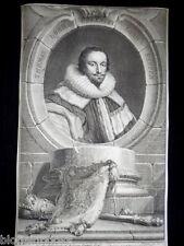 Original Jacobus Houbraken 1741 Thomas, Lord Coventry Portrait Engraving Etching