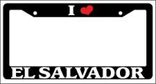 Black License Plate Frame I Heart El Salvador Auto Accessory 1238