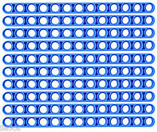 10 Lego BLUE Beams (technic,mindstorms,robot,nxt,liftarm,studless,brick,chassis)