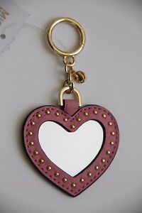 MICHAEL Michael Kors Leather Mirror Key Charm Fob Style # 32T6GLXK9L, Misty Rose