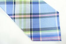 TOMMY HILFIGER PLAID CHECK BLUE PINK 3 INCH WIDTH NECK TIE MENS NWT NEW