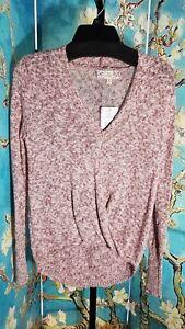 NWT Pink Republic Junior Surplice Sweater, Size XSmall , Retail $40.00