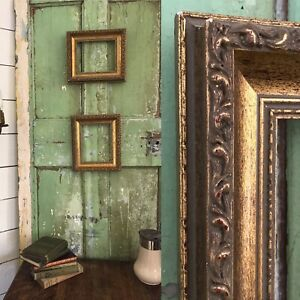 PAIR  Matching Decorative Wood Antique Gold Picture Painting Frames