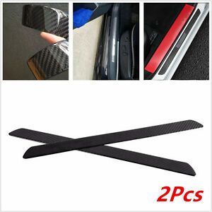 2x 49CM Carbon Fiber Car Scuff Plate Door Sill Cover Panel Step Protector Guards