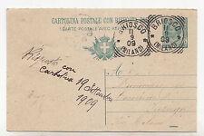J200-TONDO RIQUADRATO BRIOSCO SU CP. 5 CENT 1909