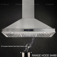 500CFM Wall Mount 36'' Stylish Range Hood Stainless Steel Filter Touch Control