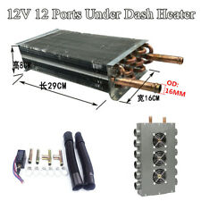 12V Dual Side 12 Port Car Truck Under Dash Heater All Copper Coil w/Speed Switch