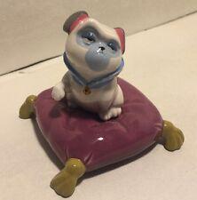 Disney Percy Pocahontas Figurine Pug Dog on Pillow Porcelain Sri Lanka Ceramic