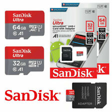 Sandisk Micro SD 32GB 64GB Memory Card Ultra SDHC TF 100MBs UHSI Class 10 Mobile