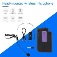 Wireless Mic Head-mounted Microphone with Receiver Transmitter Microphones
