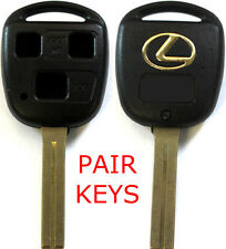 2 New Remote Key Keyless Replacement Cases 3 Button Short Blade Shell For Lexus