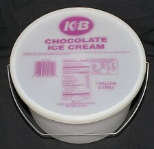 K&B Drug Store Chocolate Ice Cream Gallon Container New Orleans - FREE SHIPPING