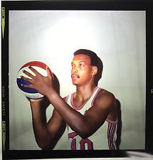 1970 TOPPS VAULT LES HUNTER NETS ABA NBA ORIGINAL COLOR BASKETBALL NEGATIVE