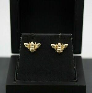 9ct Yellow Gold Bumblebee Stud Earrings