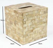 Tissue Box Cube Gold Shell Design Klennex Tissue Box