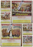 Cirque Barnum & Bailey ✤ Calendrier SCENILUX 1979 ✤ 6 grandes Planches