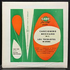 Los Tecolotes Con Guitarras Cancionero Mexicano Vol 1 LP VG+ Latin SMC-559 RARE