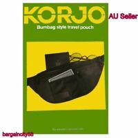 Men Women Nylon Travel Pouch Sport Bum Bag3Zip Money Belt Bag Waist Wallet Large