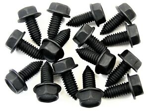 "GM Body Bolts- 5/16-18 x 13/16"" Long- 1/2"" Hex- 5/8"" Flange- 15 bolts- #158"
