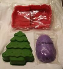 Silicone Baking Pans by Avon Products Easter Egg, Christmas Tree, Flag Shape