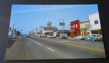 Vintage  Postcard  Downtown Fort Bragg Calif.  Street Scene