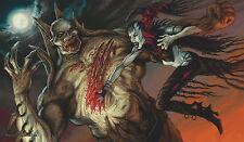 MTG YUGIOH Playmat Artists of Magic: NOSFERATU VS ZOMBIELORD art by THOMAS BAXA