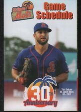 St. Lucie Mets 2018 30th Anniversary Pocket Schedule featuring Tim Tebow