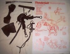 Complete set BROWN Horse Tack & Manual Marx Johnny West Thunderbolt Saddle Rifle