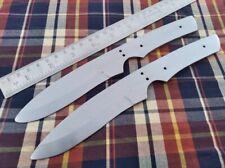 "9.25"" custom made hunting spring steel knife blank blade throwing new 2 lot"
