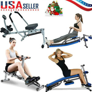 US Rowing Machine Rower With Adjustable Double Hydraulic Resistance Home Gym