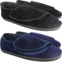 WIDE Mens Gents ORTHAPEDIC Easy Close Slippers Shoes New Indoor Outdoor Comfort