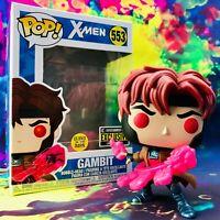 X-Men Gambit Glow-in-the-Dark Entertainment Earth Exclusive Marvel Funko POP!