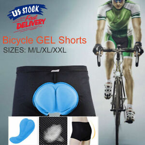 Men's 3D Padded Cycling Underwear Shorts Bike Undershorts Bicycle MTB Underpants