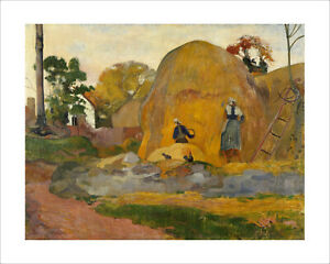 Gauguin - Yellow Haystacks fine art giclee print poster wall art various sizes