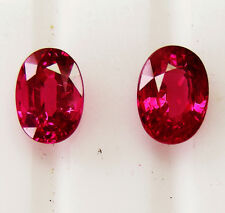 2.70ct!! NATURAL RUBIES PIDGEON BLOOD RED MATCHING PAIR +CERTIFICATES INCLUDED