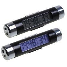 Motors Part Accessories Interior LED Backlight Digital Display Thermometer Clock