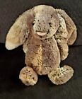 "Jellycat London Woodland Babe Bashful Bunny Rabbit 11"" Beanbag Plush Marbled Fur"