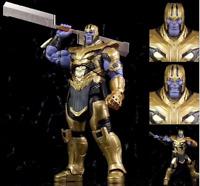 "8"" Action Marvel Legends Thanos Figure Avengers: Endgame Armored Thanos Toy Gift"