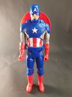 "Captain America Marvel Titan Hero Series Figure 12"" 2014 Avengers with Shield"