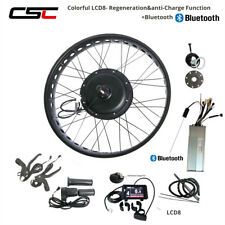 48V Electric Snow Bike Conversion Kit Fat Motor Wheel 24 26 inch LCD8 Bluetooth