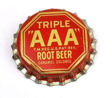 Vintage Triple AAA Root Birra Tappo Bottiglia USA Anni 1950 bottiglia caps