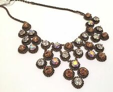 NWT NEW SORRELLI CRYSTAL NEUTRAL TERRITORY CONSTELLATION NECKLACE BLING BIB GOLD