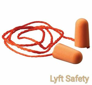 3M 1110 Corded Ear Plugs Noise Reduction 29 dB Orange Foam 1/Case = 5/Boxes