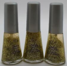 3PK CoverGirl 3-in-1 step Nail Color Q210 GOLD STANDARD 10mL