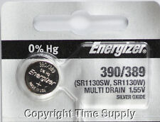 1 pc 390 / 389 Energizer Watch Batteries SR1130W 1130 0%HG