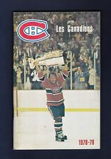 Montreal Canadiens 1978-79 hockey media guide Stanley Cup Champions