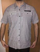 Neu G-Star RAW Hemd Gr L Shirts Kurzarm Shirt Liniert Sommer