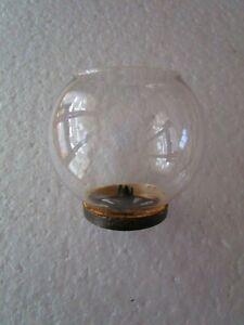 ancien verre globe de lampe pigeon