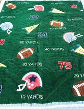 Pottery Barn Kids Football Mvp Green Cotton Reversible Quilt Sham Twin 70x84
